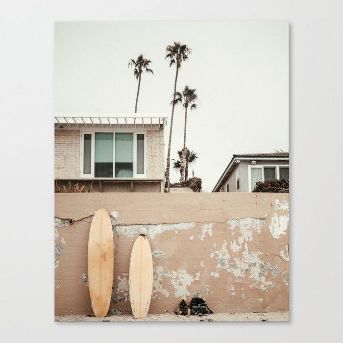 San Diego Surfing Canvas Print