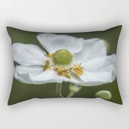 Graceful Anemone Closeup Rectangular Pillow