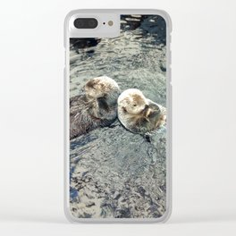 Sea Otters Clear iPhone Case