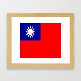 flag of taiwan- asia,china,Zhōnghuá Mínguó,Taiwanese,  mandarin,taipei,Kaohsiung,Taichung,Formosa Framed Art Print