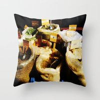 spice Throw Pillows featuring Spice by Madison Webb
