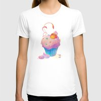 bath T-shirts featuring Cupcake bath by DanBee Kim