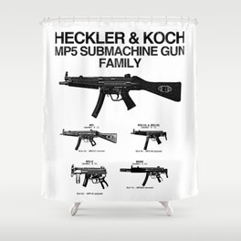 MP5 SUBMACHINE GUN FAMILY Shower Curtain
