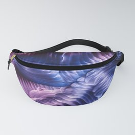 Blue Violet Abstract Fanny Pack