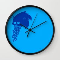 sonic Wall Clocks featuring Sonic by La Manette