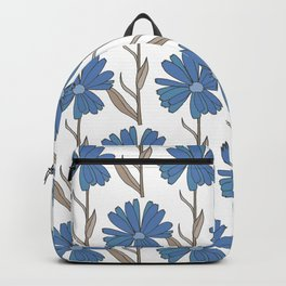 Flowers in blues and browns Backpack