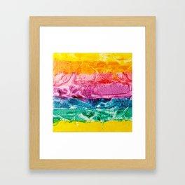 Rainbow Abstract #12 Framed Art Print