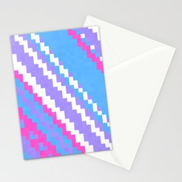 pink blue purple and white Stationery Cards
