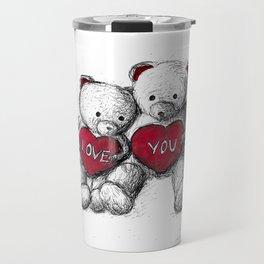 Bear: Valentine's Day Travel Mug