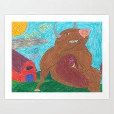 Big Bull Art Print