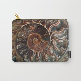 Fossilized Shell Carry-All Pouch