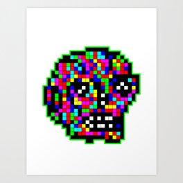 Old Skull Art Print