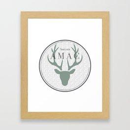 Cerf Amac Framed Art Print