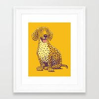 daschund Framed Art Prints featuring Take a Woof on the Wild Side! by victor calahan