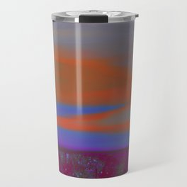 """Twilight Meadow"" (Magenta/Orange) Digital Painting // Fine Art Print Travel Mug"