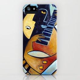 Blues Guitarist iPhone Case