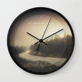 The roads we travel Wall Clock