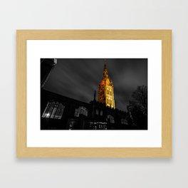 The Golden Spire Framed Art Print