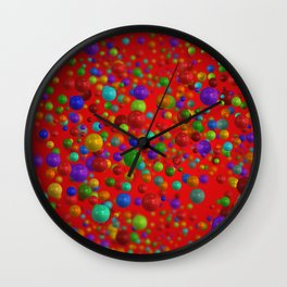 Colorful Bubbles Pattern Wall Clock
