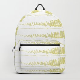 Golden Scribbles 1 Backpack