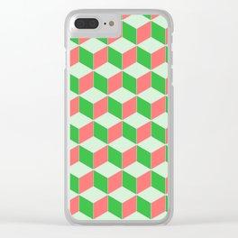 Christmas Escher Print Clear iPhone Case