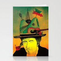 dylan Stationery Cards featuring dylan by Mariana Beldi