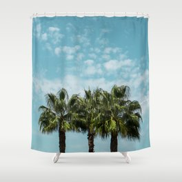 Good vibes. Landscape Shower Curtain
