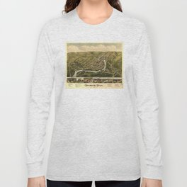 Aerial View of Seymour, Connecticut (1879) Long Sleeve T-shirt