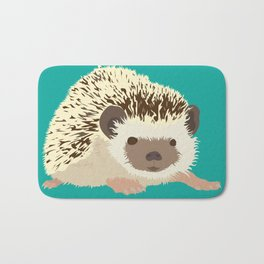 Hedgehog - Teal/Aqua Bath Mat