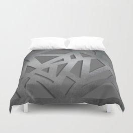 Metal Engraved Geometric pattern Duvet Cover