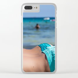 Summer nap Clear iPhone Case