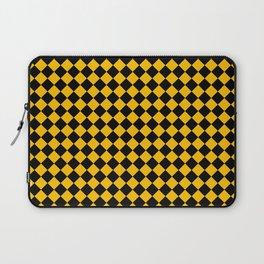 Black and Amber Orange Diamonds Laptop Sleeve