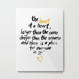The Heart Of A Heart Metal Print