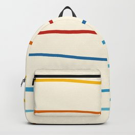 Abstract Retro Stripes #1 Backpack