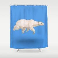 polar bear Shower Curtains featuring Polar Bear. by Diana D'Achille