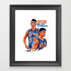 Jeremy Lin: New York, New York, Big City of Dreams. Framed Art Print