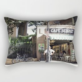 New Orleans Cafe Beignet Rectangular Pillow