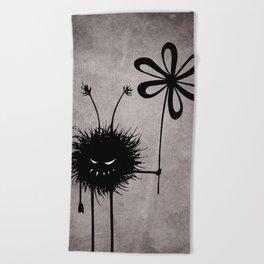 Evil Flower Bug Beach Towel