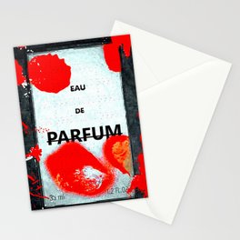 Parfum Box Red Splash Stationery Cards