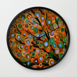 Fall Red Leaves Tree Wall Clock