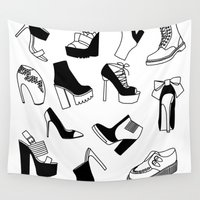 shoe Wall Tapestries featuring Shoe Cravings by shutupbek