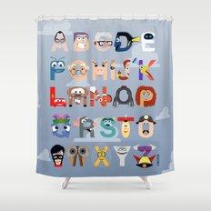P is for Pixar (Pixar Alphabet) Shower Curtain