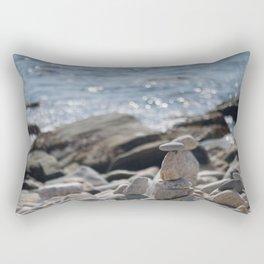 Balancing Serenity Rocks Rectangular Pillow