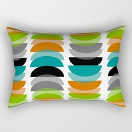 Mid-Century Modern Geometric Rectangular Pillow