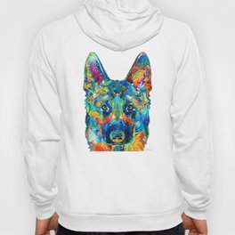 Colorful German Shepherd Dog Art By Sharon Cummings Hoody