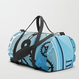 Blue Clock Duffle Bag