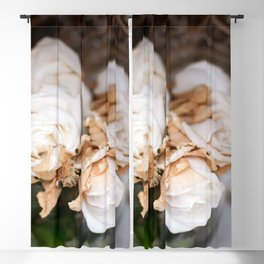 White Roses Blackout Curtain