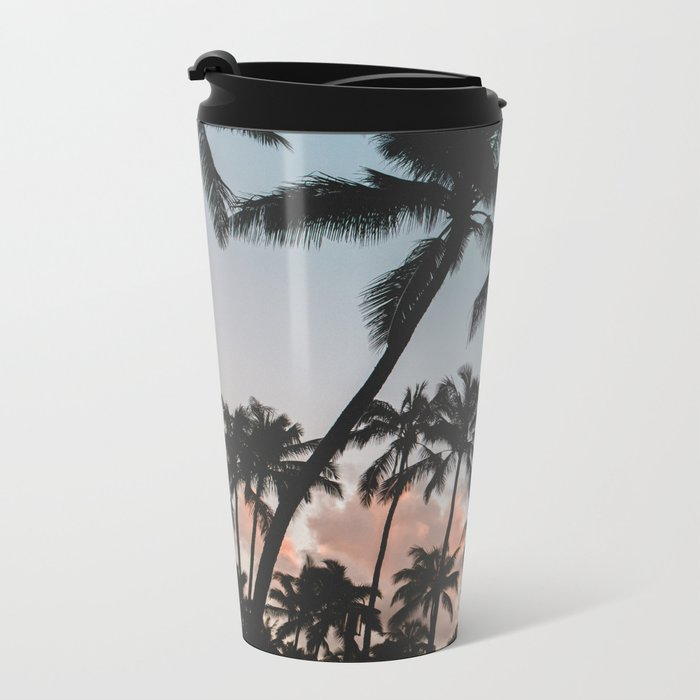 Summer Silhouette Metal Travel Mug