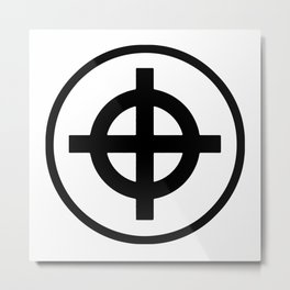 Sun Cross Wheel Cross Martial Heathen symbols Metal Print