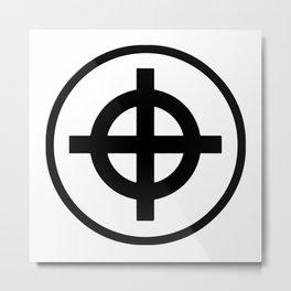 Sun Cross Wheel Cross Martial Heathen symbols Metal Print